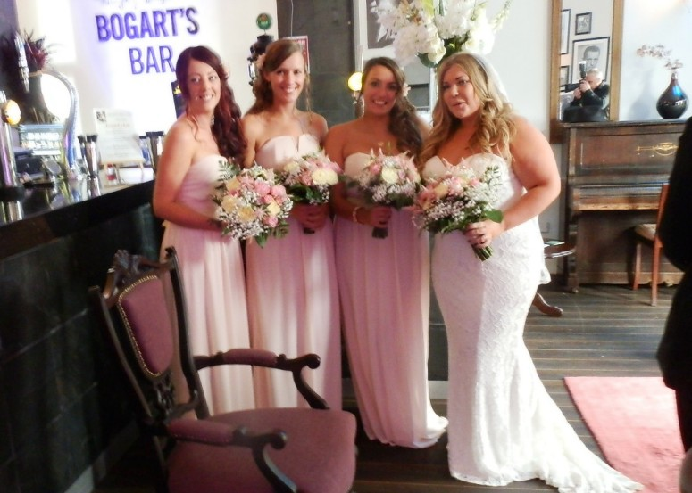 Bride and bridesmaids at Mansfield Manor Hotel
