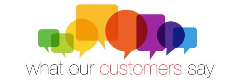What our customers say image
